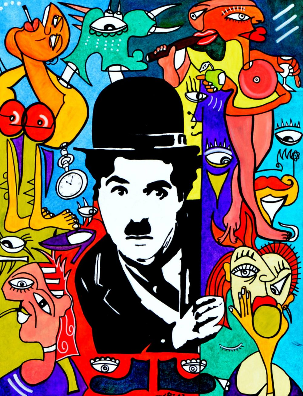 Charlie em estado Chaplin